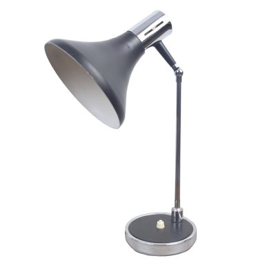 Black & chrome desk light