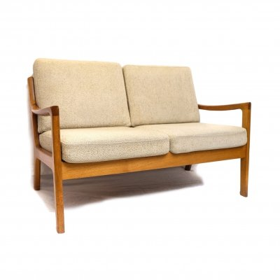 Senator 2 Seater Teak Sofa by Ole Wanscher for P. Jeppesen