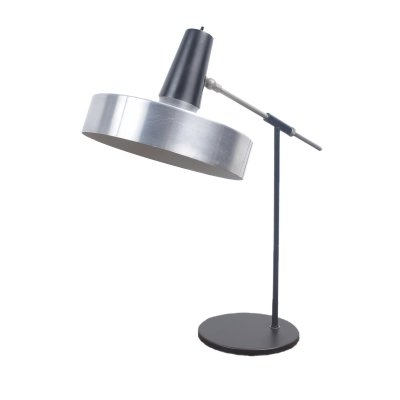 Black & Chrome desk light by H. Busquet