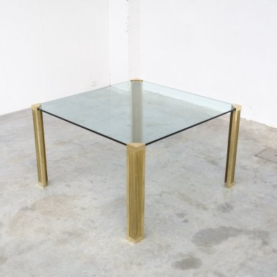 T14 Impressive Square Dining Table by Peter Ghyczy