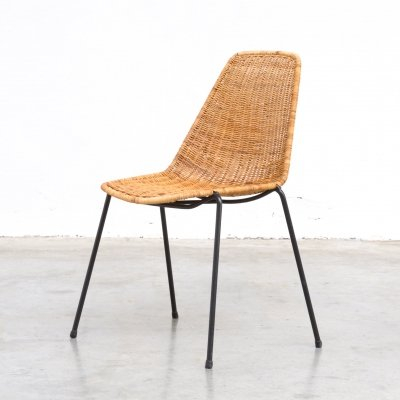 Rattan Dining Chairs by Gian Franco Legler
