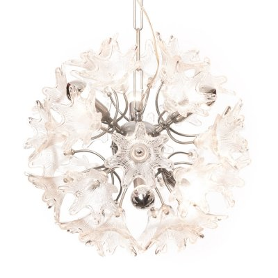 Vintage Italian flower chandelier by Paolo Venini for VeArt