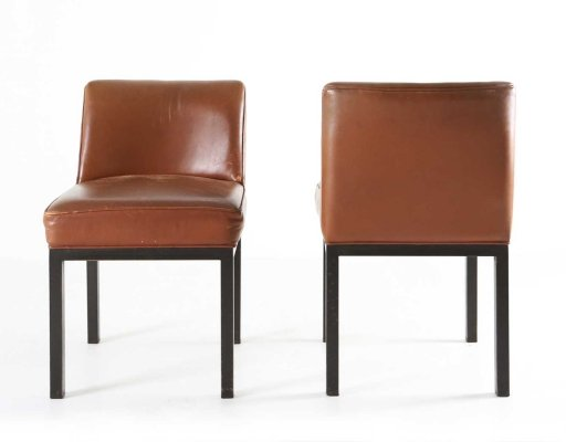 2 x Louise dining chair by Jules Wabbes for Mobilier Universel, 1960s