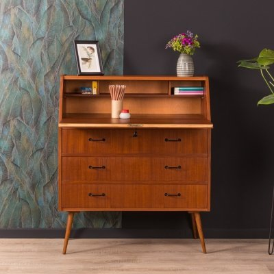 Walnut secretary desk, Germany 1950s