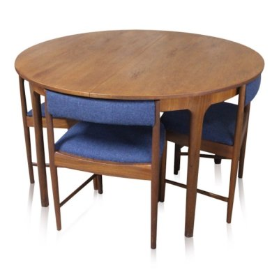 Vintage teak Scandinavian style dining set by McIntosh, 1960s