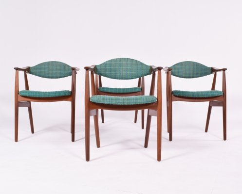 Set of 4 Mid Century Danish Teak Dining Chairs