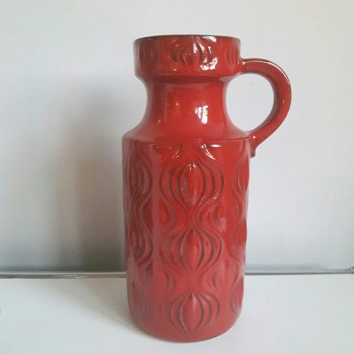 Red Onion ceramic handled vase by Scheurich Germany