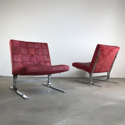 Astounding Set Of Two Yellow Mid Century Modern Club Chairs 99861 Evergreenethics Interior Chair Design Evergreenethicsorg