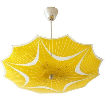 Glass 'Umbrella' ceiling lamp by Napako, Czechoslovakia 1960s