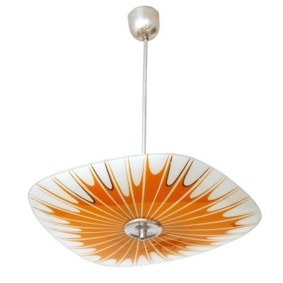 Glass ceiling lamp by Napako, Czechoslovakia 1960s