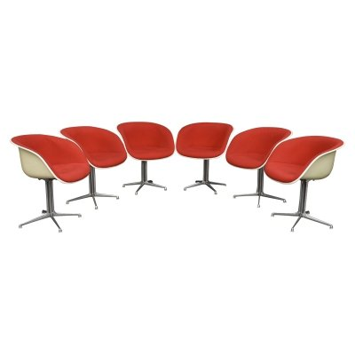 Set of 6 Eames la fonda chairs, USA 1970s