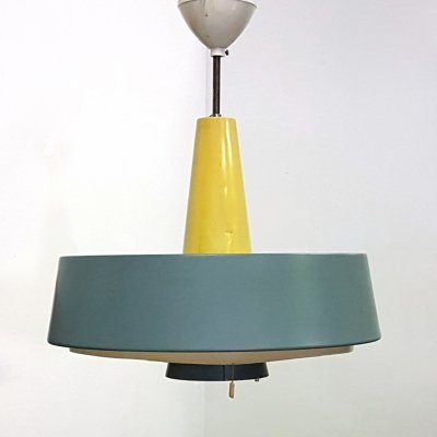 Minimalist industrial 'NT 72E/100' pendant lamp by Philips, Netherlands 1960s