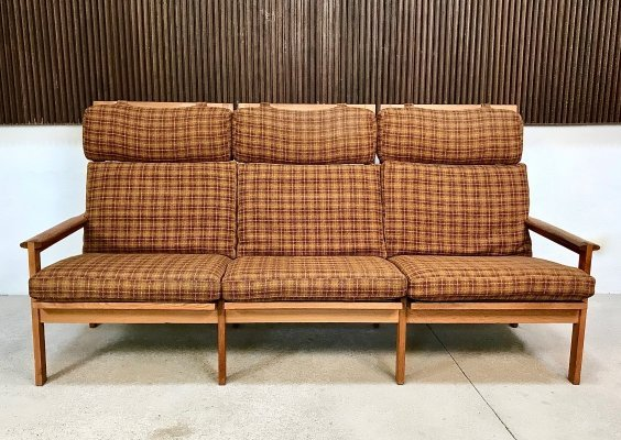 Danish Capella 3-Seater Oak Sofa by Illum Wikkelso for N. Eilersen, 1960s