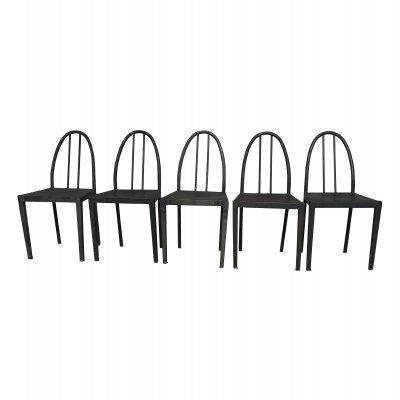 Set of 5 Potez dining chairs, 1950s