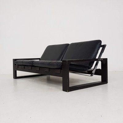 Brutalist Sonja Wasseur two-seater sofa, The Netherlands 1970's