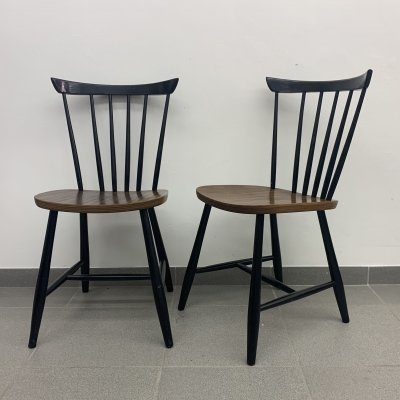 Set of 2 vintage dining chairs, 1960's