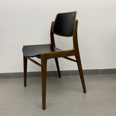 Teak wood dining chair by Hartmut Lohmeyer for Wilkhahn, 1950's