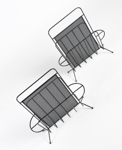1950s set of Mathieu Matégot magazine racks for Artimeta