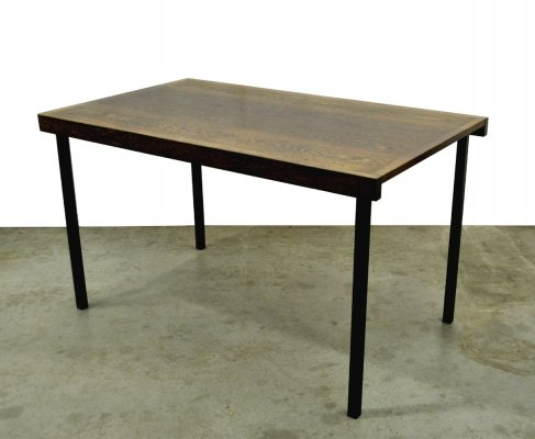 Vintage Wengé 'Weert te21' dining table by 't Spectrum for Martin Visser, 1959