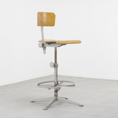 Industrial drawing chair by Friso Kramer for Ahrend de Cirkel, NL 1960s