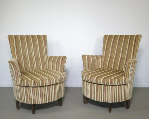 Set of 2 lounge chairs, 1950's
