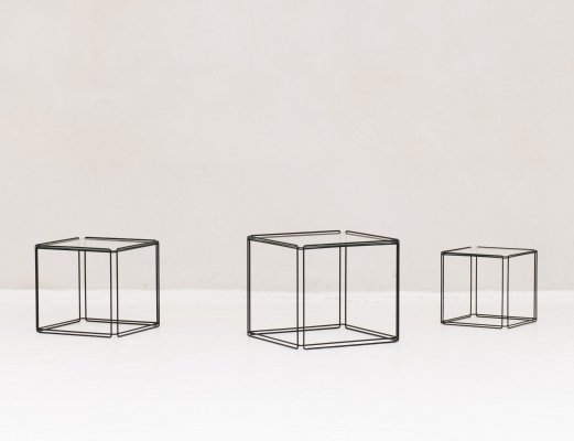 'Isocele' Mimi set of three nesting tables by Max Sauze
