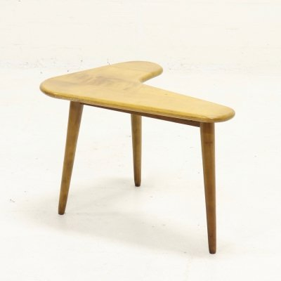 Mid Century Boomerang Shaped Side Table, 1950s