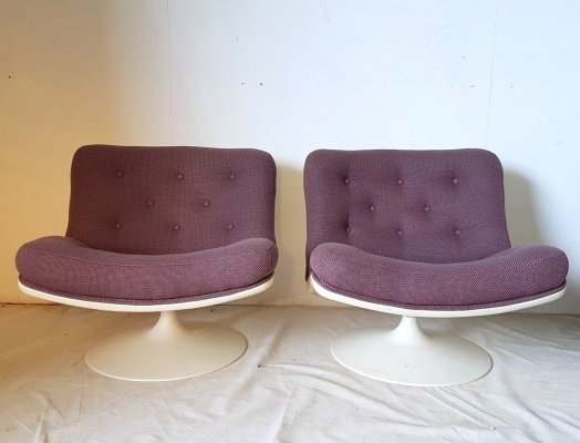 Model F978 swivel lounge chairs by Geoffrey Harcourt for Artifort
