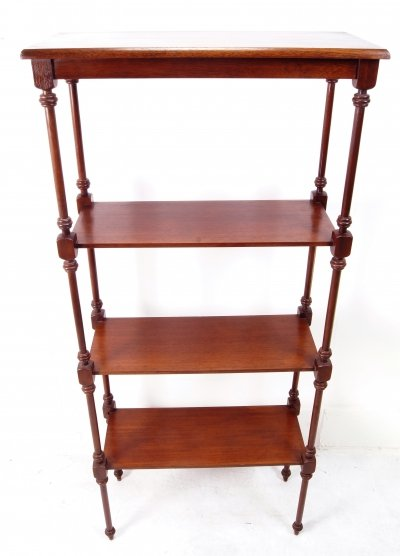 Mahogany shelf etagere, 1940s