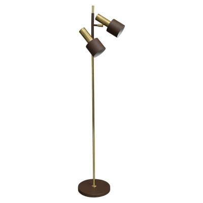 Brass floor lamp by Jo Hammerborg for Fog & Mørup, Denmark 1970s