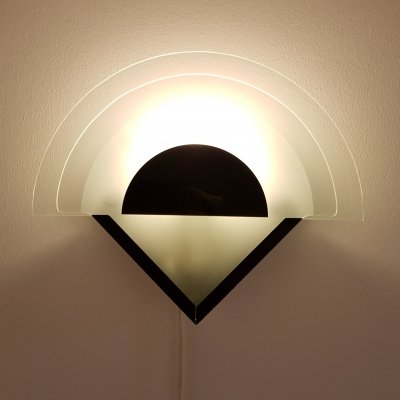 1980s Art Deco Memphis style modernist wall sconce by Herda