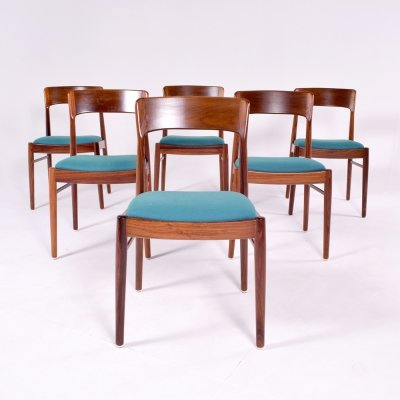 Set of 6 Mid Century Modern Danish K.S. Møbler Dining Chairs, 1960s