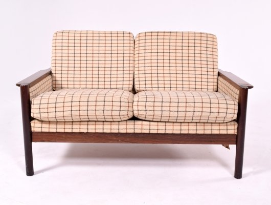 Mid Century Modern Danish Two Seater in Rosewood