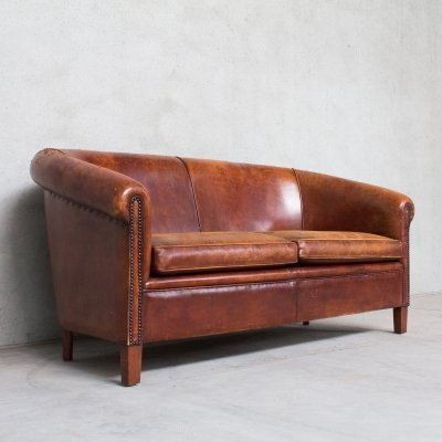 Sheep Leather Threeseater Sofa, 1980s