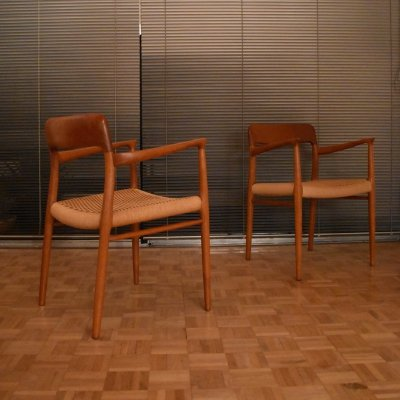 Pair of Niels Moller Model 56 Teak Chairs