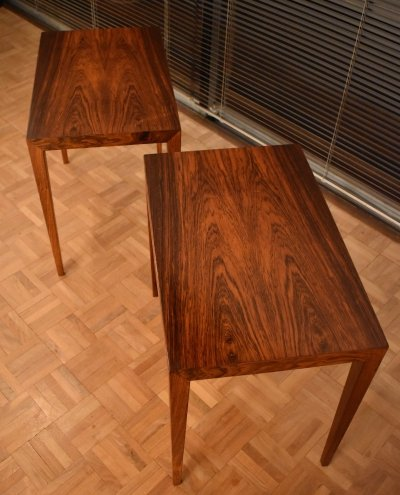 Pair of 34a side tables by Severin Hansen for Haslev Møbelsnedkeri, 1960s