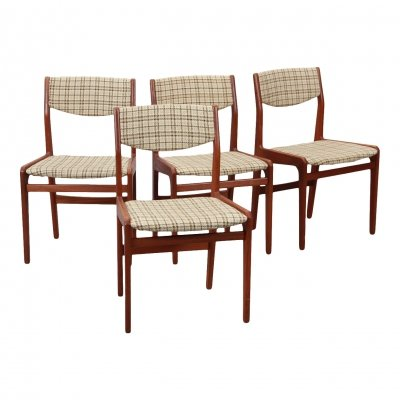 Set of 4 Knud Andersen dining chairs, 1960s