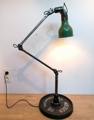 Vintage Mek Elek machinist lamp, 1930s