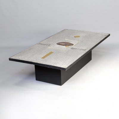 Raf Verjans coffee table with Agate stone