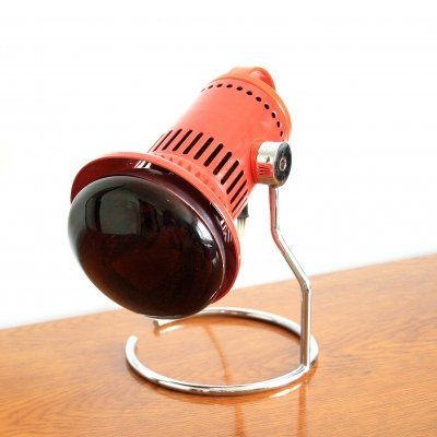 Vintage Infrared desk lamp by Chirana, Czechoslovakia 1970s