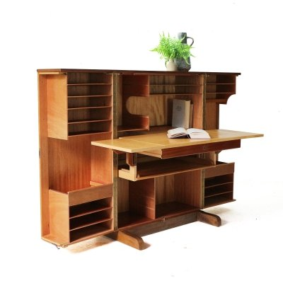 Teak 'Magic Box' Bureau by Mummenthaler & Meier, 1960s