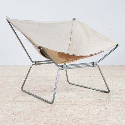 Anneau chair in canvas by Pierre Paulin for AP Polak, 1955