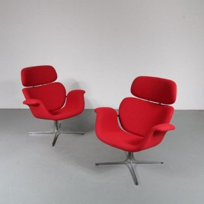 1950s Pierre Paulin 'Big Tulip' Lounge Chairs