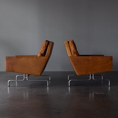 Pair of PK31 lounge chairs by Poul Kjærholm for E. Kold Christensen, 1950s