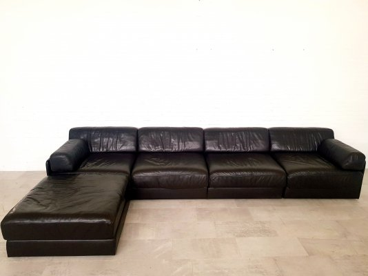 De Sede DS76 sofa with large ottoman, 1970s