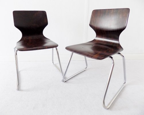 Pair of Flötotto childrens chairs, 1970s
