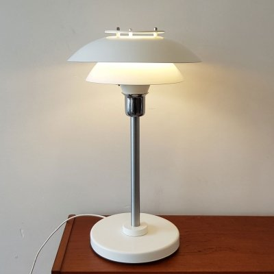 Danish white desk lamp, 1980s