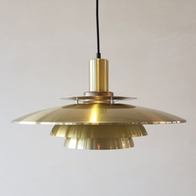 Danish brass coloured pendant, 1970s