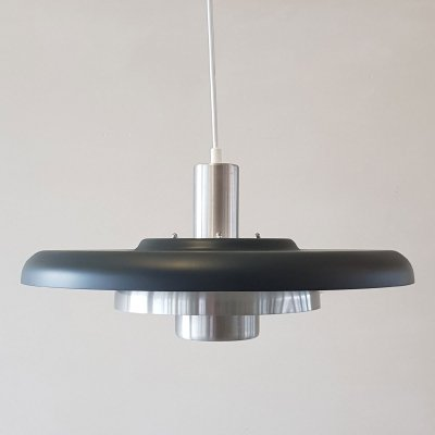 Danish dark grey pendant by Lyskaer, 1970s