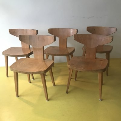 Set of 5 dining chairs by Jacob Kielland Brandt for I. Christiansen, 1960s